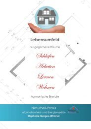 Lebensumfeld: ausgeglichene Räume - harmonische Energie