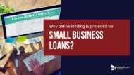 Why online lending is preferred for Small Business Loans