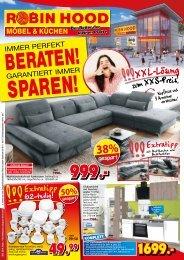 Immer perfekt beraten - garantiert immer sparen! Robin Hood - günstige Möbel und Küchen - 78166 Donaueschingen