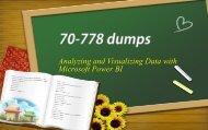 Microsoft Power BI 70-778 real dumps