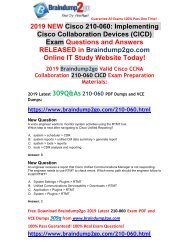 [2019-May-Version]Braindump2go New CICD 210-060 VCE and 210-060 PDF Free Share