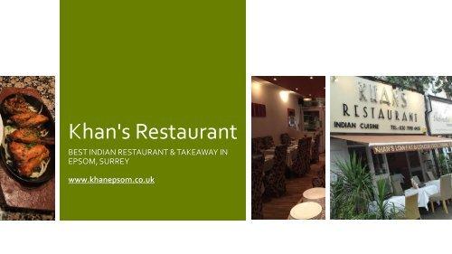 Khan's Restaurant - Best Indian Restaurant & Takeaway In Epsom, Surrey