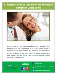 5 Important Facts to Consider When Finding an Edmonton Dental Clinic