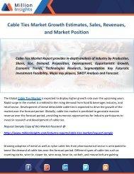 Cable Ties Market Growth Estimates, Sales, Revenues, and Market Position