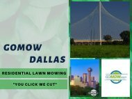 GoMow – The best Dallas lawn care service in TX