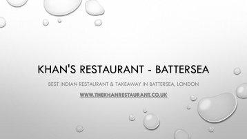 Khan's Restaurant - Best Indian Restaurant & Takeaway In Battersea, London