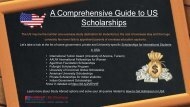 List of Scholarships for International Students in USA