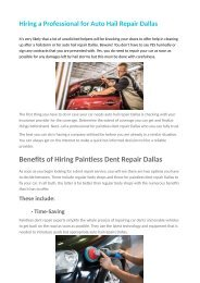 Hiring a Professional for Auto Hail Repair Dallas