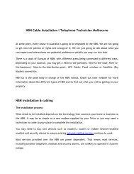 NBN Cable Installation  & Telephone Technician Melbourne