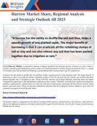 Harrow Market Share, Regional Analysis and Strategic Outlook till 2023