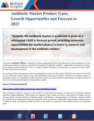 Antibiotic Market Product Types, Growth Opportunities and Forecast to 2022