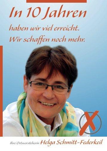 Ihre Ortsvorsteherin Helga Schmitt-Federkeil