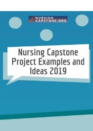 Nursing Capstone Project Examples and Ideas 2019