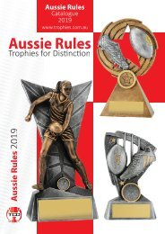 Trophies for Distinction - Aussie Rules 2019