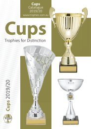 Trophies for Distinction - Cups 2019