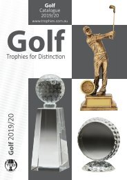 Trophies for Distinction - Golf 2019