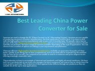 Best Leading China Power Converter for