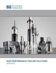 BIG KAISER High Performance Tooling Solutions 2018-2019
