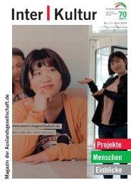 Inter   Kultur der Auslandsgesellschaft   No. 10 April 2019