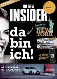THE NEW INSIDER  No. I