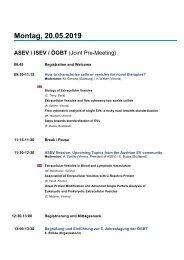 Programm ÖGBT Kongress Salzburg 2019