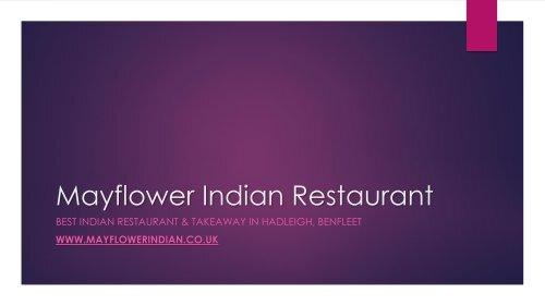 Mayflower Indian Restaurant - Best Indian Restaurant & Takeaway in Hadleigh, Benfleet