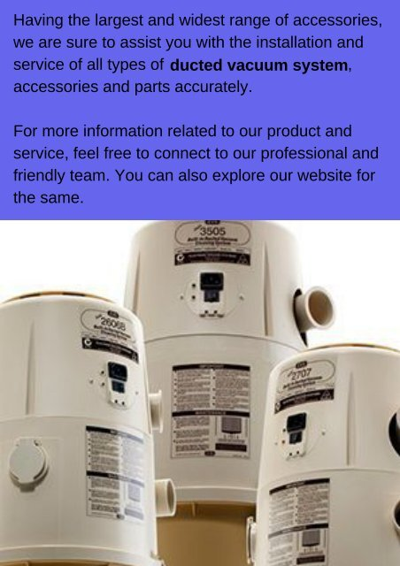 How to Choose a Reliable Ducted Vacuum Service Professionals?