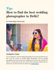 How to find the best wedding photographer in Delhi