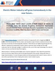 Electric Motor Industry will grow tremendously in the near future…