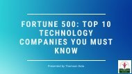 Fortune 500: Top 10 Technology Companies You Must Know