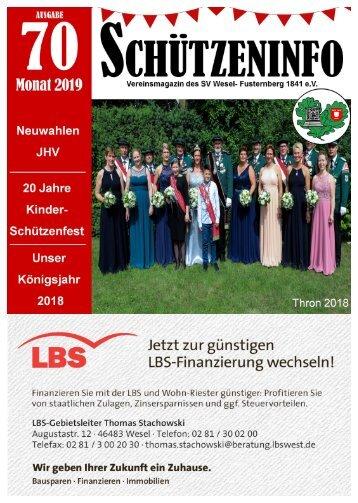 Schützeninfo des Schützenvereins Wesel-Fusternberg