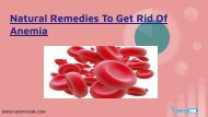 Natural Remedies To Get Rid Of Anemia