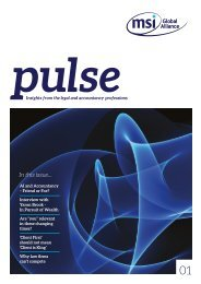 MSI Pulse: Insights from the legal and accountancy professions (Edition 1)