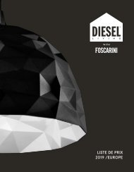 DIESEL WITH FOSCARINI_Liste-de-prix_Europe_05-2019_FR