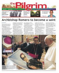 Issue 70 - The Pilgrim - April 2018 - The newspaper of the Archdiocese of Southwark
