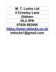 M. T. Locks Ltd