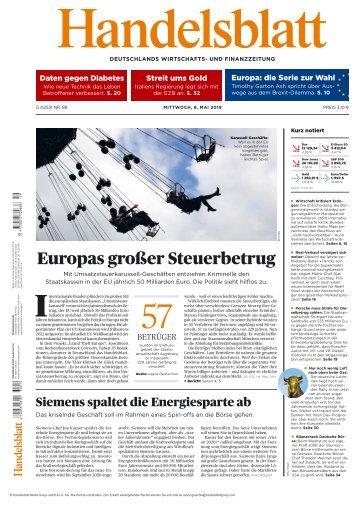 Handelsblatt 08.05.2019