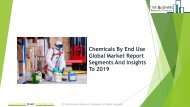 Chemicals By End Use Global Market Report 2019