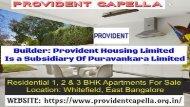 www.providentcapella.org.in Provident Capella Bangalore