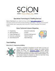 Bridging the Gap of IT staffing - Scion Technical Staffing