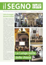 ll Segno - Mensile della Diocesi die Bolzano-Bressanone - Anno 55, numero 5, maggio 2019
