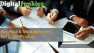 Facebook Management Services Pricing - Digital Junkies
