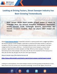 Looking at Driving Factors, Street Sweeper Industry has Been Growing Tremendously