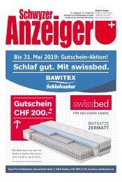 Schwyzer Anzeiger – Woche 19 – 10. Mai 2019