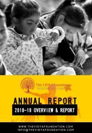 TVF ANNUAL REPORT 2018-19