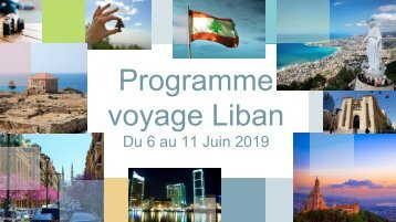 Programme Voyage Liban