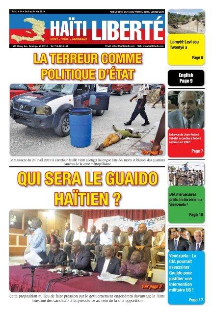 Haiti Liberte 8 Mai 2019