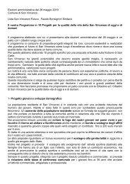 Programma elettorale  lista San Vincenzo Futura