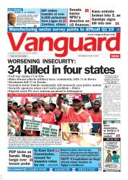 09052019 - WORSENING INSECURITY:34 killed in four states