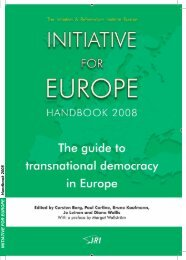 Initiative for Europe Handbook 2008